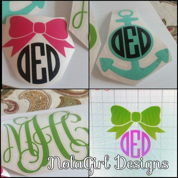 monogrammed items nolagirl design