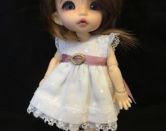 BJD Pukifee/ Lati yellow 16cm doll dress and pants