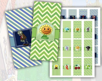 Plants vs Zombies Mini Candy Bar Wrappers Printable