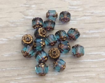 Cathedral Beads, 6 mm Beads, Glass Beads, Chez Glass Beads