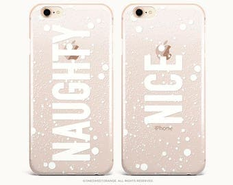 Naughty Nice Christmas iPhone 8 Case iPhone X Case iPhone 7 Case Rubber Case iPhone 7 Plus Clear Case iPhone SE Case Samsung S8 Case U317