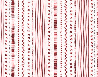 Christmas Quilting Fabric - Red and White Fabric - Cotton Yardage - Quilting Material - Choose Your Cut - Fat Quarter Fabric - By The Yard