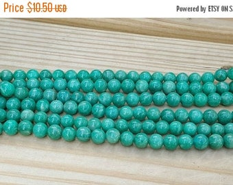 """SAVE 20% 1-15"""" Strand Genuine Natural Russian Smooth Amazonite Rounds 8.5mm (45 Beads)"""