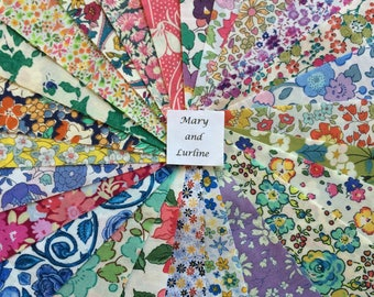 "25 x 5"" Squares -  Lucky Dip Pack of Liberty London Tana Lawn"
