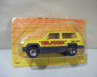 Vintage Matchbox Mr. Fixer Die-Cast Jeep Cherokee 1986, On Card Bottom, Sealed