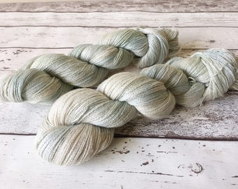 Alpaca Lace in Flotsam: Naturally hand-dyed Lace weight yarn in Baby Alpaca, Silk and Linen 100g / 600m