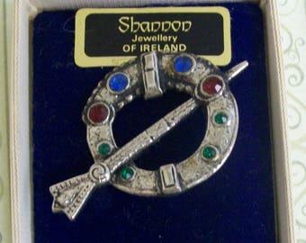 Celtic Irish Tara Brooch by Shannon Jewellery of Ireland, Circa 1985, Pennanular Style