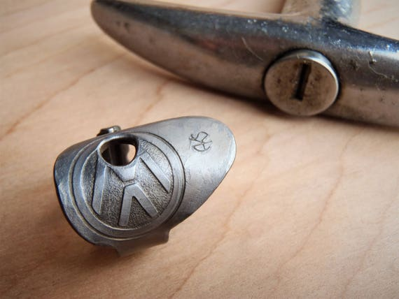 1970's Volkswagen Key made into a RING! - VW - Size 7.5 - Repurposed - Vintage Key - Type 2 - Bus - Wagon - VW Van