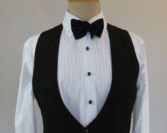 Antique Clothing - Men's Edwardian Silk Brocade Waistcoat - Chest 91 cm