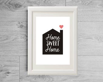 Housewarming gift, Housewarming print, Home sweet home gift, Move gift, Moving in gift, New owner gift, New home print, Apartment gift, Flat