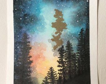Cosmic Nighttime Landscape