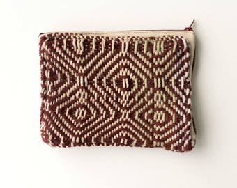 Burgandy Handwoven Fabric Wallet