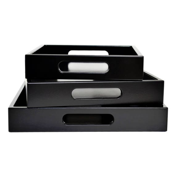 Serving Tray With Handles Ottoman Tray Black Coffee Table