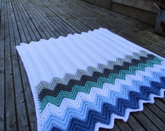 Crochet chevron blanket, crochet baby blanket, crochet blanket, baby boy, baby blanket
