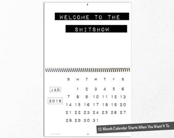 2018 Funny Wall Calendar, Bitchy Quotes, Sarcastic, Rude, Sassy, Coworker Gift, Uncensored Humor, Office Accessories, Fourth Edition