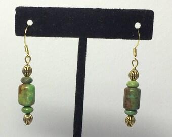 Yellow Turquoise Earrings - Turquoise Earrings