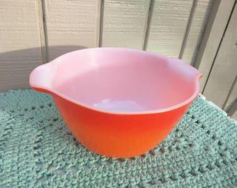 Vintage Fire King Orange Cinderella Bowl
