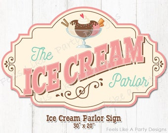 Ice Cream Parlor Sign - Instant Download