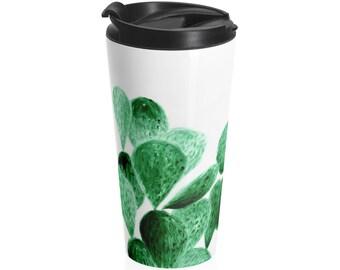 Cactus Travel Mug, succulent mug