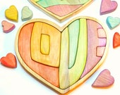 READY TO SHIP Heart Shaped Puzzle Love cutout wooden word puzzle, Love Gift, Heart Puzzle, Easter Ostara Peace Toy, Love theme, family gift