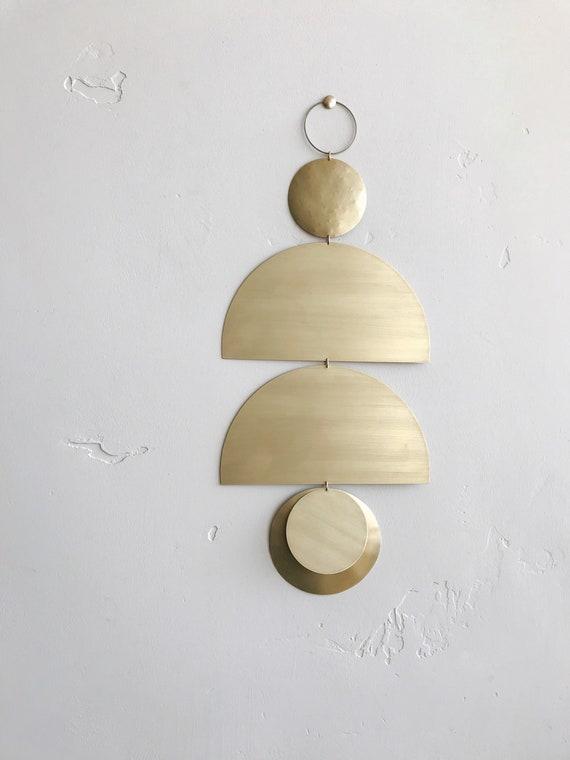 "Brass Wall Hanging - ""Ines"" - made-to-order - 1 week turnaround time"