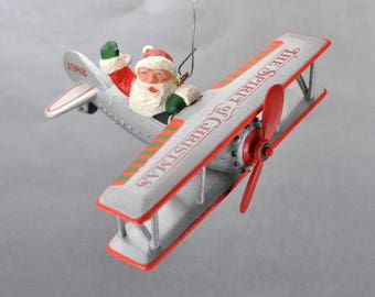 Santa in airplane | Etsy
