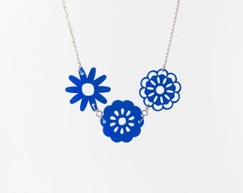 Acrylic Flower Cluster Necklace