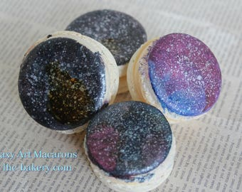 Custom Galaxy Macarons