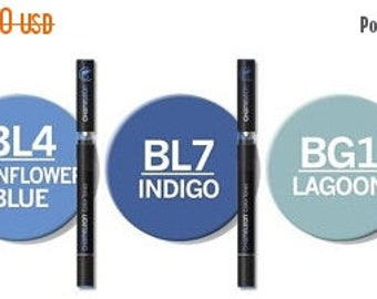 ON SALE Chameleon Color Tones Alcohol Markers 5 pc.Blue Tones Set    NO Shipping to the Uk