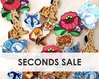 SECONDS SALE! - hard enamel animal pins with manufacturing errors