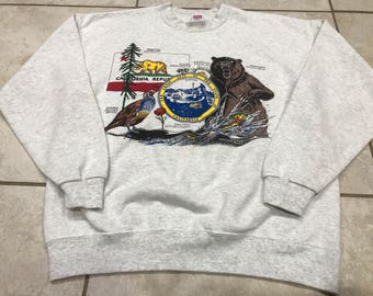 Vintage 90's California Tourist Sweatshirt L