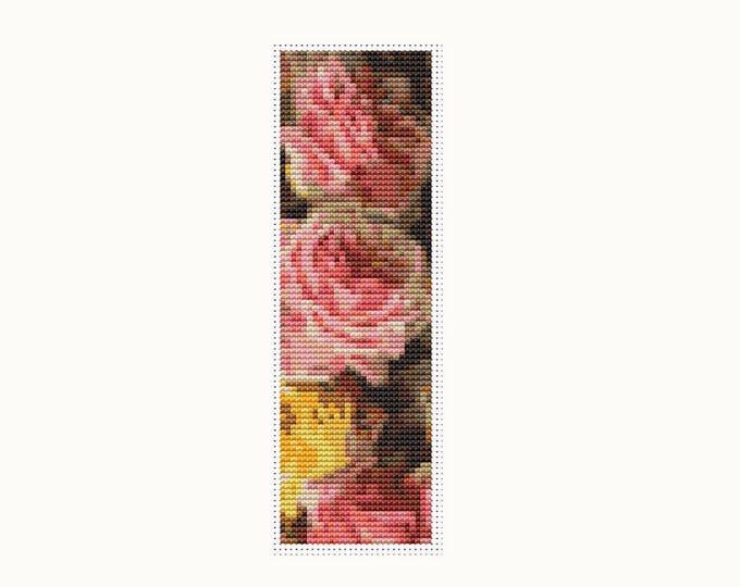 Bookmark Cross Stitch Pattern PDF, Embroidery Chart, Art Cross Stitch, Stitch Bookmark, Just Too Sweet by Paul de Longpre (BK22)