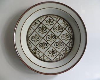 Dansk Fleur de Lis 13 Inch Deep Round Platter