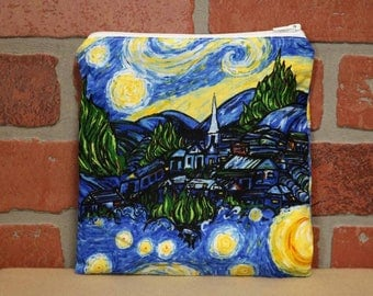 One Sandwich Bag, Reusable Lunch Bags, Waste-Free Lunch, Machine Washable, Starry Night, Sandwich Sacks, item #SS76