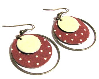 paper weight, sequins, bronze rings patterns sequins earrings