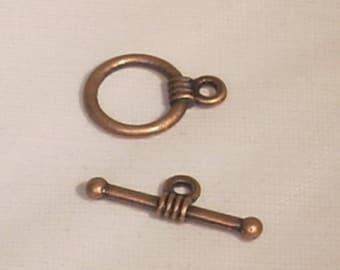 Round toggle to bar bronze 11x13mm