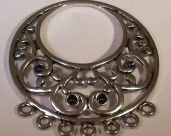 Round crimp silver-plated 46x40mm chandelier