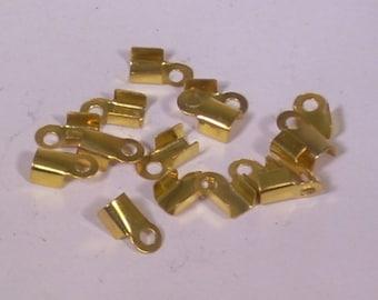 10 cord color 3mm gold metal caps