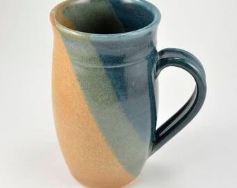 Large Pottery Coffee Mug 22 - 24 oz. Beer Stein Extra Large Manly Mug Handmade Wheel Thrown Pottery Ceramics