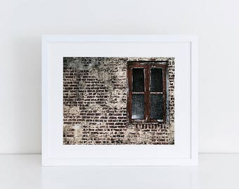 Window Print Urban Exploration Abandoned Places Architecture Texture Photography Minimalist Home Decor Fine Art Print Gallery Wall Prints