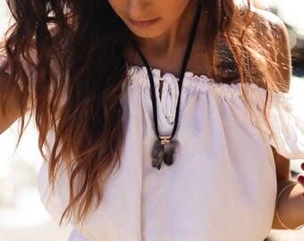 Smoky quartz pendant gold necklace, Smoky quartz cluster necklace, black suede Smoky quartz necklace, Smoky quartz crystal pendant necklace