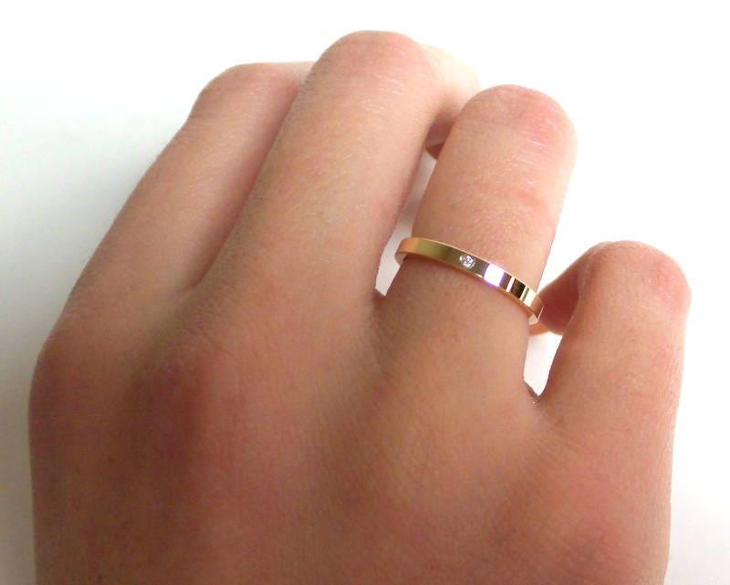 14K Gold Diamond Band 14k Solid Gold Ring Diamond Wedding Band