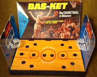 Cadco Basketball Game from 1972 - Ping Pong Ball Shooting Baskets - 2 Player Game