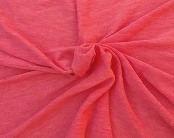 Coral Cashmere Like Sweater Knit Fabric by the Yard 3/16
