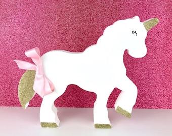 Free Standing Wooden Unicorn/nursery decor/personalised birthday gift