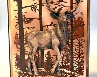 Vintage Copper dimensional Wall Art by artist John Louw