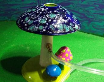 Mushroom Shroom hookah hooka  STARRY NIGHT BLUE Tobacco pipe
