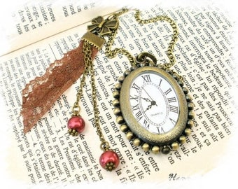 Fashion trendy HANNA SO420 Pocket Watch necklace