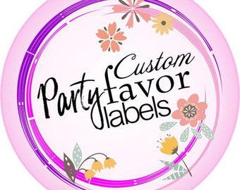 Custom Wedding Party Favor Bag Labels Decor - Thank You Stickers - Wedding, Anniversary, Bachelorette Party