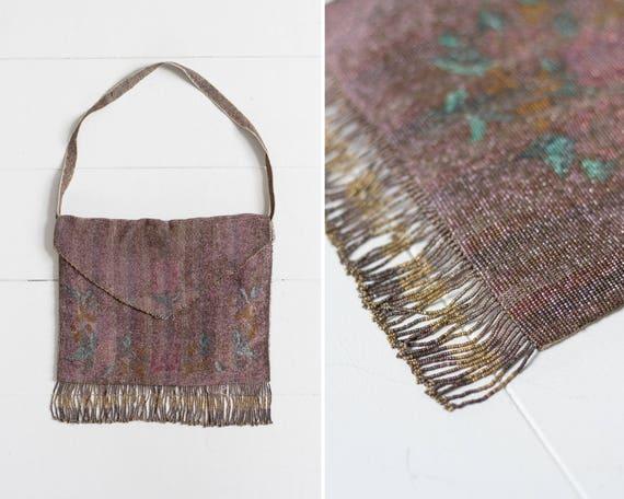 antique 1800s purse | 1920s beaded purse | victorian beaded bag | steel cut bead purse | micro beaded purse | 1900s handbag